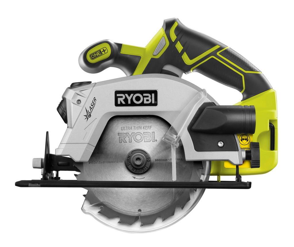 aku ruční okružní pila s laserem ONE+ Ryobi RWSL 1801 M
