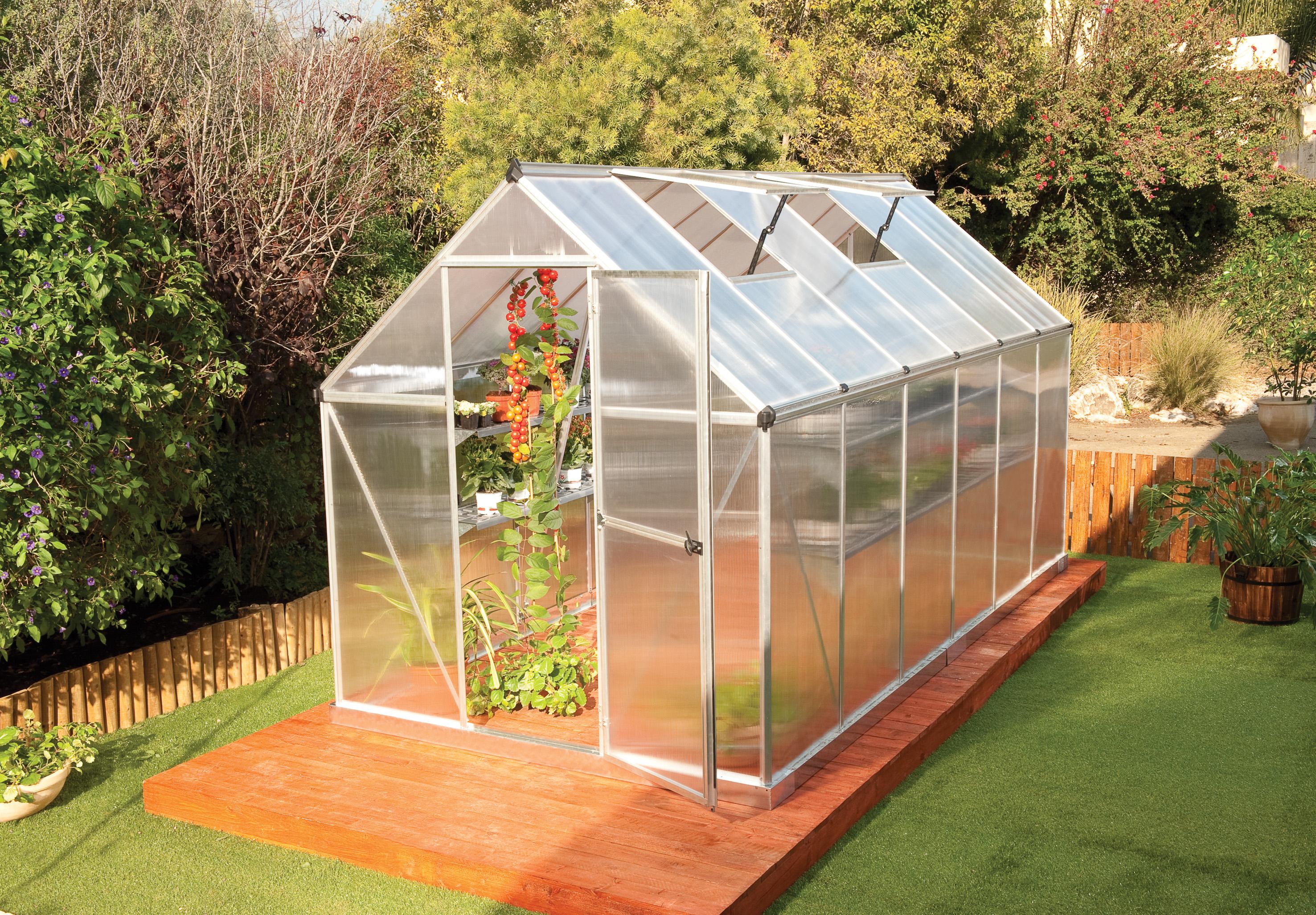 polykarbonátový skleník Palram multiline 6x12 + ZDARMA základna skleníku + ZDARMA automatický otvírač oken + hnojivo Biocin-FF + prodloužená ZÁRUKA 10 LET
