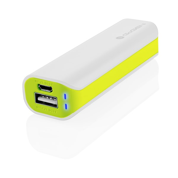 GOGEN power bank 2600 mAh, bílo-zelená