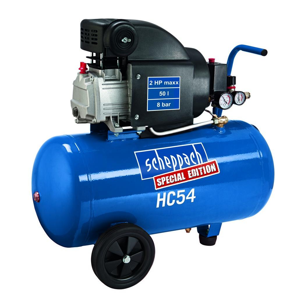 olejový kompresor Scheppach HC 54 + ZDARMA ochranné pracovní rukavice