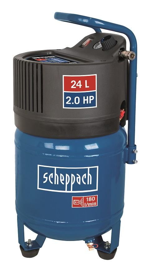 bezolejový vertikální kompresor Scheppach HC 24 V