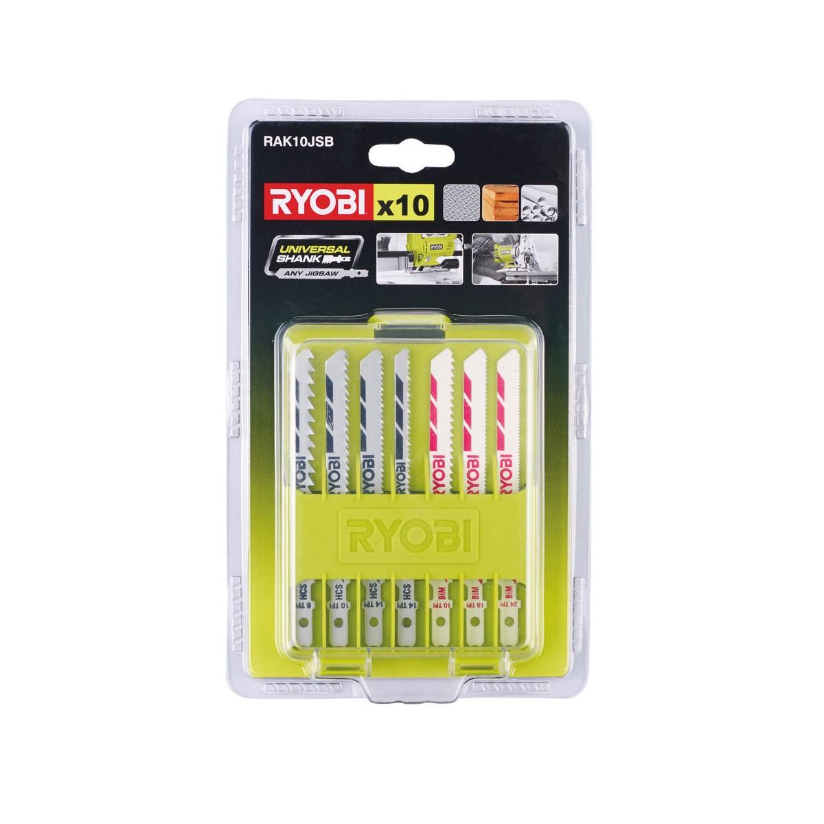 10ti dílná sada pilových plátků pro přímočaré pily Ryobi RAK10JSB