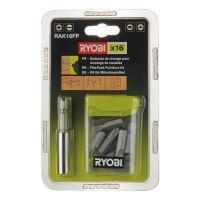 ideální pro práci se sektorovým nábytkem Ryobi RAK 16 FP - 16 ks sada příslušenství