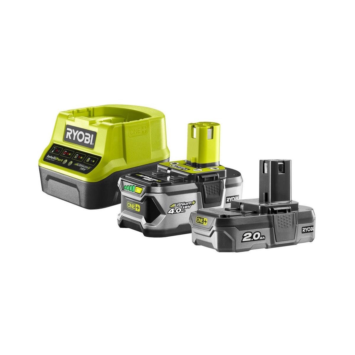 sada 18 V lithium iontová baterie 2 + 4 Ah s nabíječkou RC18120 ONE+ Ryobi RC18120-242