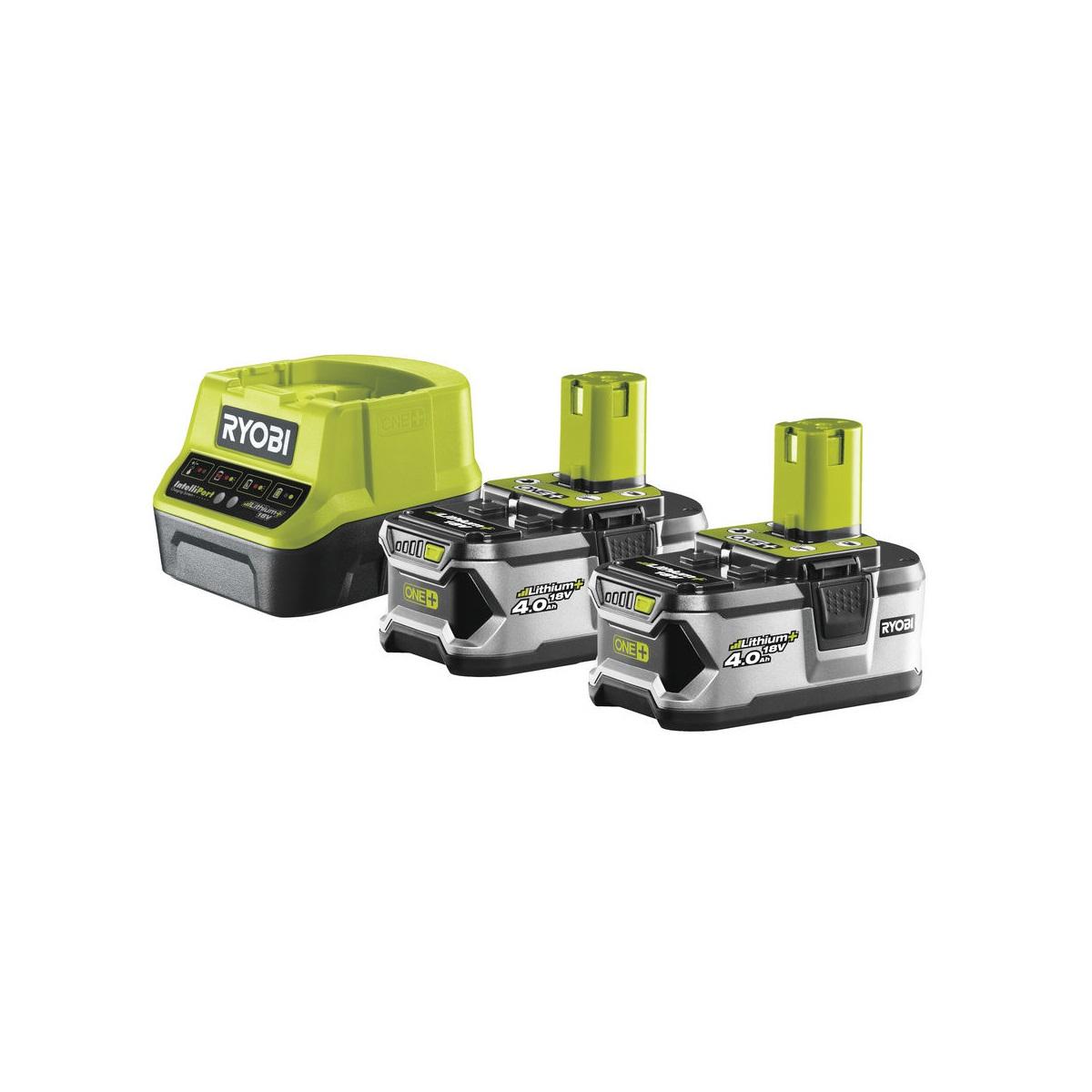 sada 2x 18 V lithium iontová baterie 4 Ah s nabíječkou RC18120 ONE+ Ryobi RC18120-240