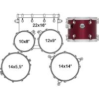 VR5244DR DRUM SET 5 PC MAPEX