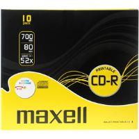 CD-R 700MB 52x 10PK PR SC 624016 MAXELL