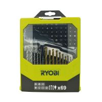 69 ks sada vrtáků a šroubovacích bitů Ryobi RAK 69 MIX