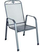 stohovatelná židle z tahokovu, tmavě šedá Garland Savoy